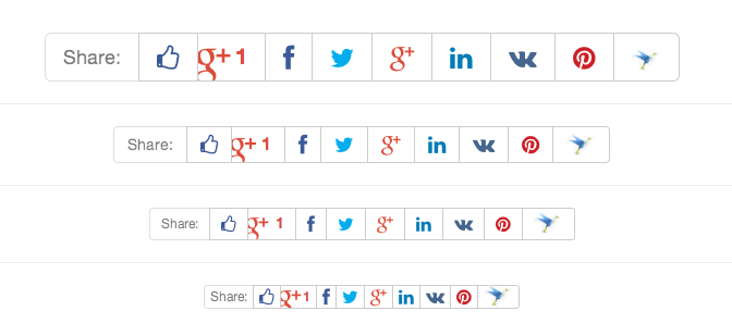 Social networks sharing buttons in CS-Cart